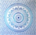 Tenture mandala mosaique bleu & bleu clair