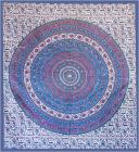 Elephant mandala bedsheet dark blue and violet