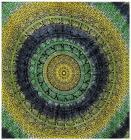 Attaccatura di Parete Mandala Elefante Giallo, Verde, Blu