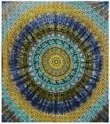 Attaccatura di Parete Mandala Elefante Turchese, Giallo, Blu, Kaki