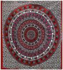 Attaccatura di Parete Mandala & Elefante Rosso