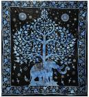 Attaccatura di Parete Albero della Vita & Elefante Blu