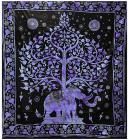 Attaccatura di Parete Albero della Vita & Elefante Viola