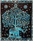 Attaccatura di Parete Albero della Vita & Elefante Turquesa