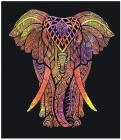 Attaccatura di Parete Elefante  Giallo, Viola, Arancione
