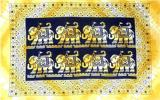 Yellow 8 Elephants Rectangle bedsheet