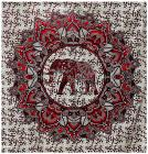 Red Elephant and Lotus  bedsheet