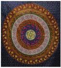 Attaccatura di Parete Mandala Viola, Rosa, Giallo, Arancione, Verde