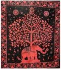 Attaccatura di Parete Albero della Vita & Elefante Rosso