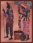 Bedsheet african man & woman mini ©