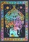 Color Elephant Tree of life Mini Bedsheet