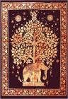 Orange Elephant Tree of life Mini Bedsheet