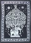 Black & White Elephant Tree of life Mini Bedsheet