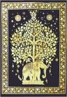 Mini yellow elephant and tree of life bedsheet