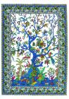White and blue tree of life Mini Bedsheet