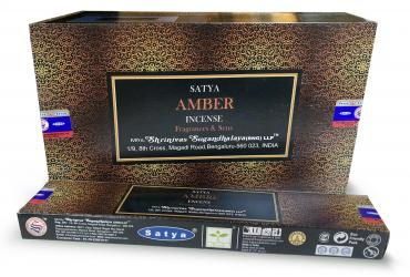 Amber Satya Fragrances & Sens incense 15g