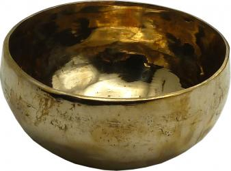 Tibetan singing bowl 7 metals gold 12cm
