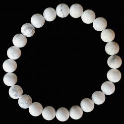 Bracciale Howlite A perles 8mm
