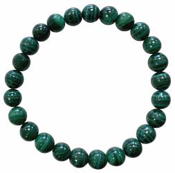 Bracciale perlescente in malachite 8mm