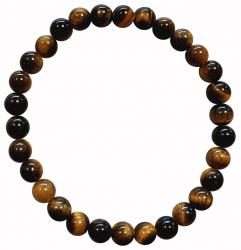 Bracciale Tiger Eye 'AA' perline 6mm