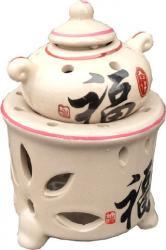 Beige oilburner with teabasket
