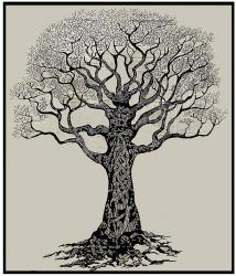 Tree of Life Black & White bedsheet