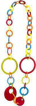 Collier Cercle Acrylique *1 pcs