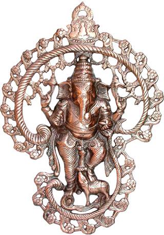 Ganesh mural Aluminium 42cm