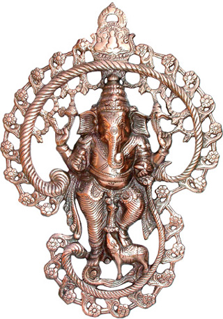 Ganesh murale Alluminio 42cm