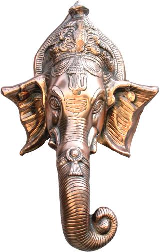 Ganesh éléphant mural aluminium 68cm