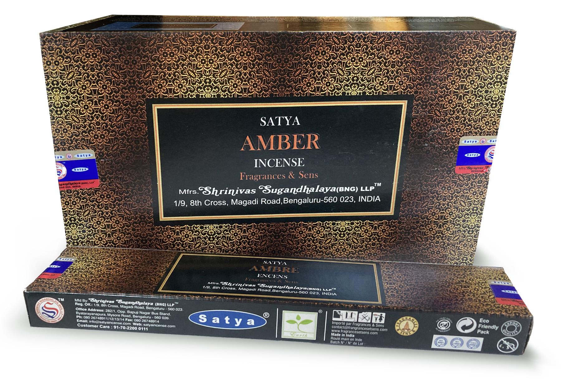 Incenso Satya Fragrances & Sens Ambra 15g