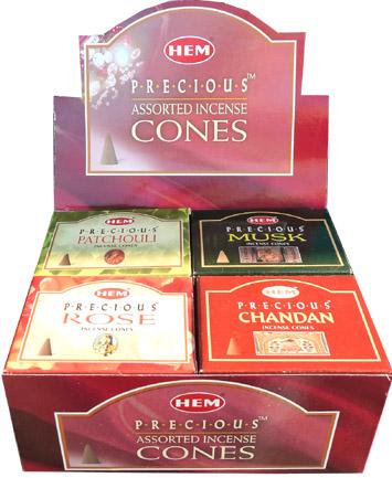 Encens precious hem cones assortis 6x2 parfums