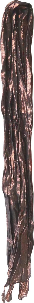 Carré fleur avec lurex et franges coton
