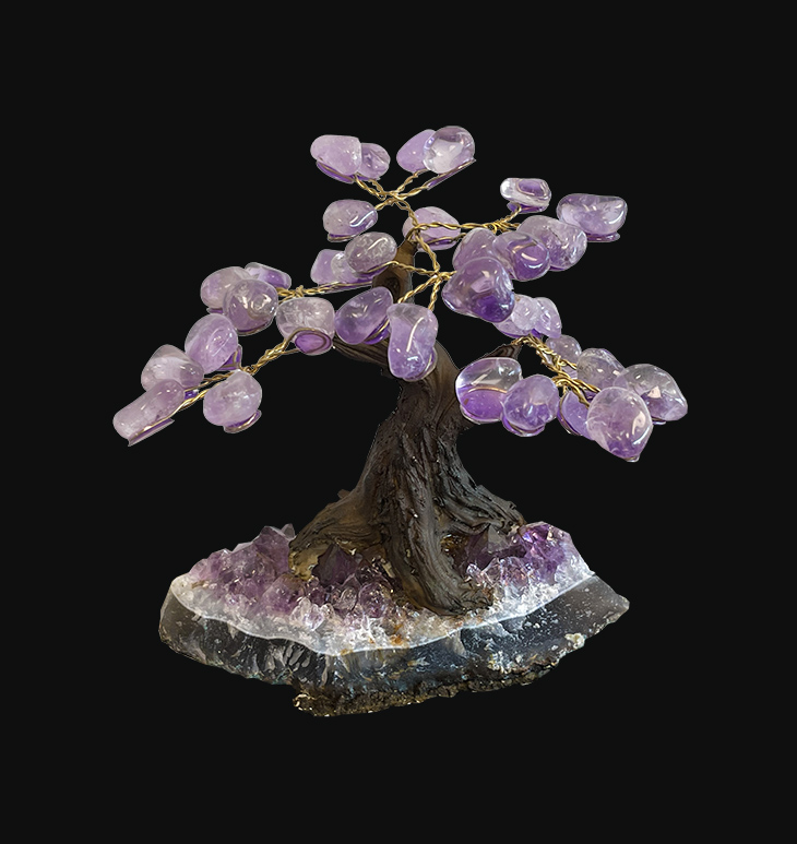 Amethyst A Tree of Life on Geode