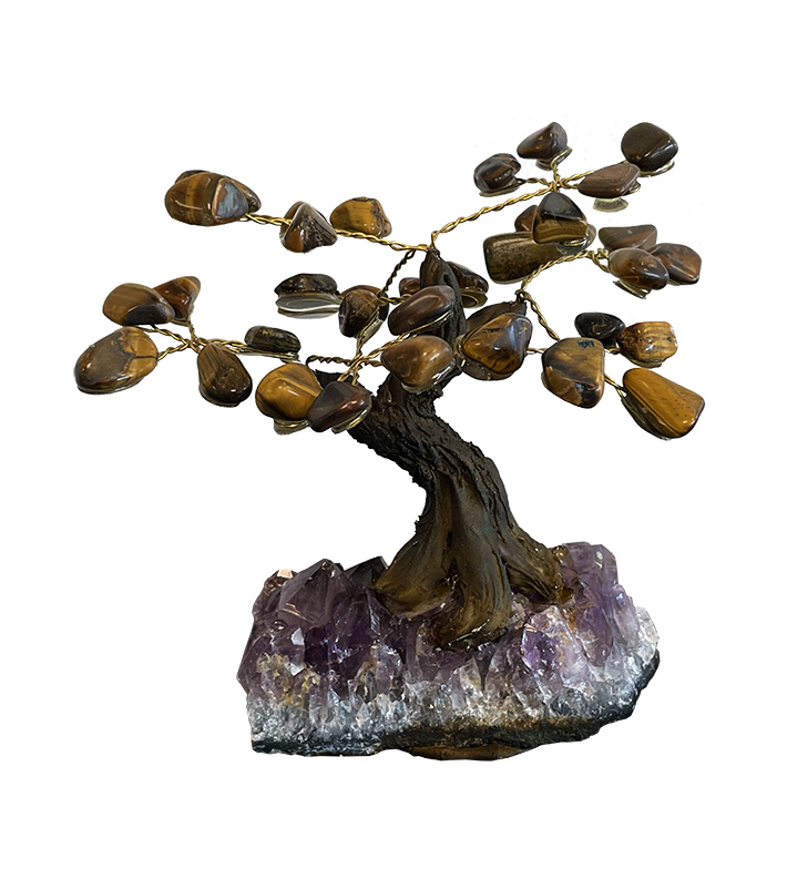 Tiger's eye A Tree of Life on Geode