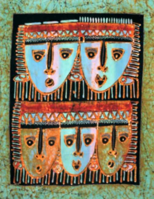 Batik masques 70x90 cm