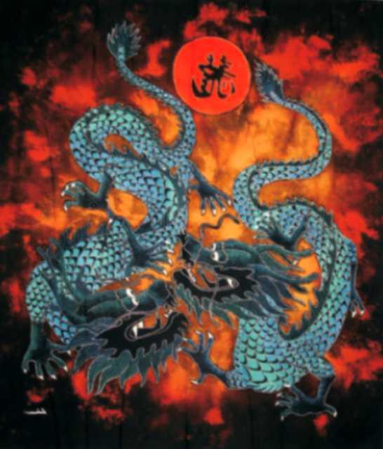 Batik dragon 70x90 cm