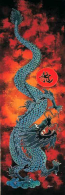 Batik dragon 45x150 cm