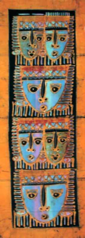 Batik masques 45x150 cm
