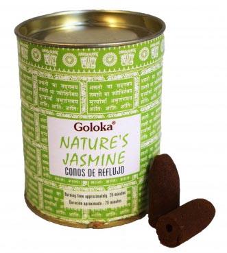 Cônes backflow Goloka Nature\'s Jasmine 6pcs