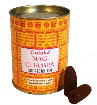 Cônes backflow Goloka Nag Champa 6pcs