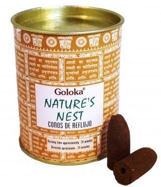 Cônes backflow Goloka Nature\'s nest 6pcs