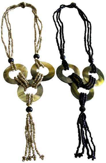 Collier Coquillage 3 Cercles x2pcs
