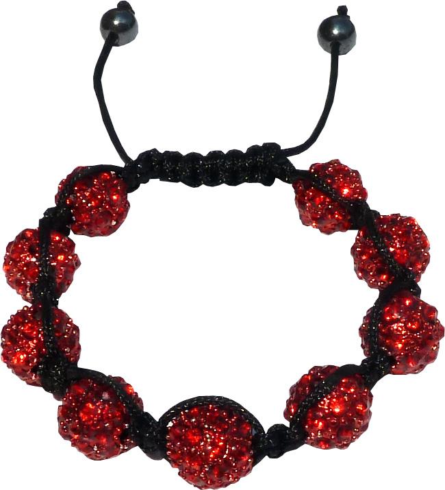 Shamballa 9 pierres rouges