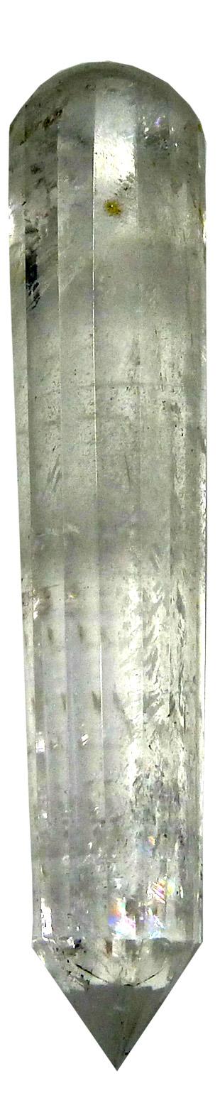 Pointe de massage Cristal de roche faceté 10cm