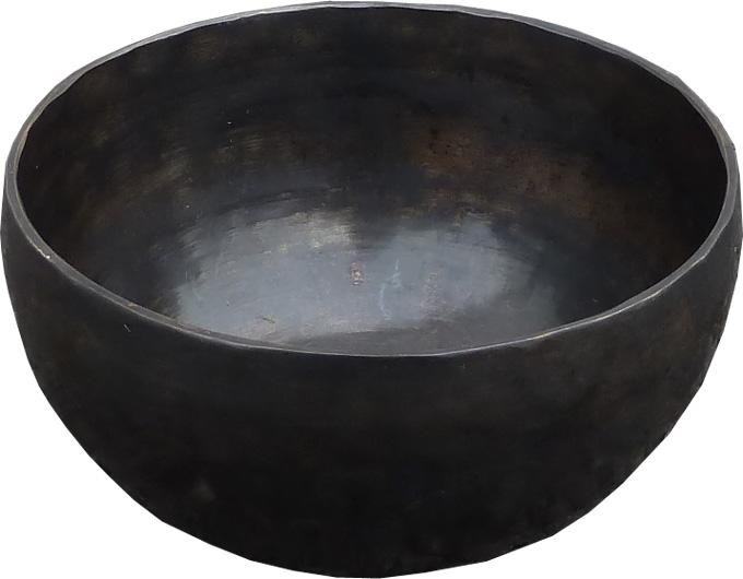 Bol chantant tibetain 7 métaux noir 13cm