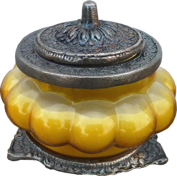 Bougie parfumée bouddha delight dans un bocal métal & verre