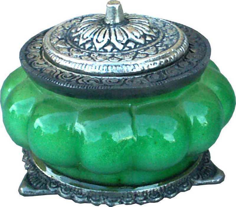 Bougie parfumée patchouli dans bocal métal & verre