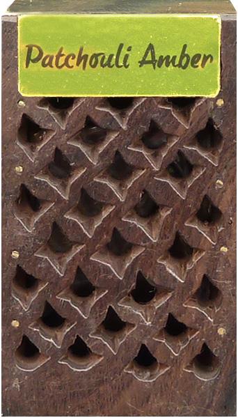 Boite en bois contenant 5g de patchouli ambre
