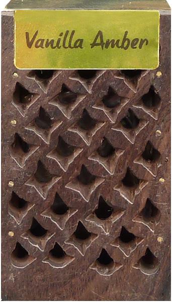 Boite en bois contenant 5g d\'ambre vanille